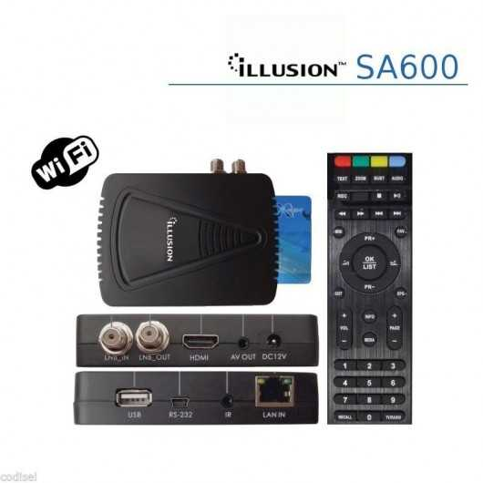 Receptor Satelite Illusion SA600 WIFI (antiguo Talcom HD500)